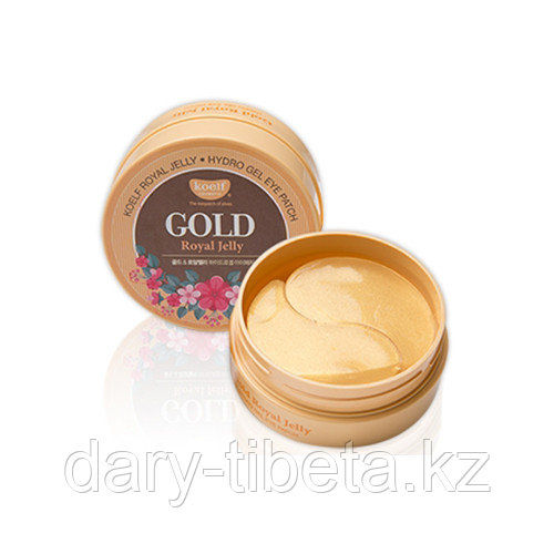 Koelf Gold & Royal Jelly Hydrogel Eye Patch - Гидрогелевые патчи для век с золотом (60шт)
