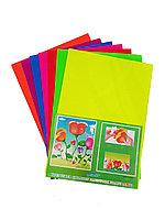 Картон Бумага гофра флуоресцентная А4 10 листов
