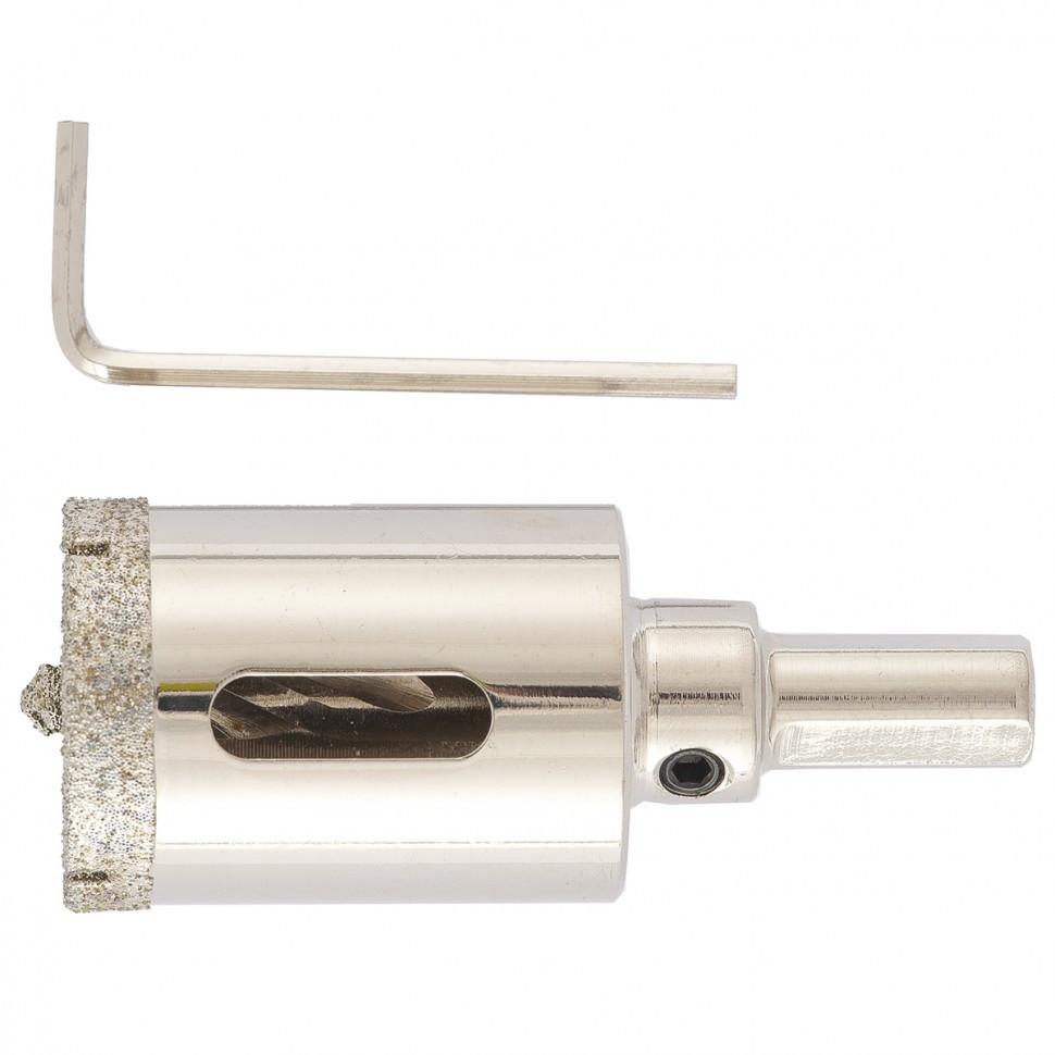 (726303) Сверло алмазное по керамограниту, 30 х 67 мм, 3-гранный хвостовик// Matrix