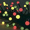 Гирлянда 4,7м желто-зелено-красная Жемчуг кабель черный 10м 48диодов LED outdoor 471-70