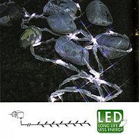 Гирлянда 6м холоднобелая Ручеек кабель прозрачный 5м 192диода LED outdoor 487-01