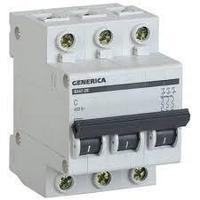 Выключатель автоматический модульный  Generica ВА47-29 6А С 3п