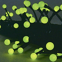 Гирлянда 7,9м зеленая Жемчуга кабель черный 10м 80диодов LED outdoor 472-43
