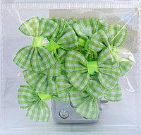 Бантикидля декорирования, 10 шт., зеленые