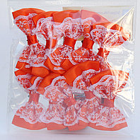 Бантикидля декорирования, 10 шт., оранжевые