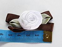 """Бантикидля декорирования """"Белые розы"""", 10 шт."""