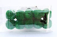 Помпоны декоративные из акриловой пряжи, 2 см, зеленые, фото 1