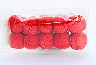 Помпоны декоративные из акриловой пряжи, 2 см, светло-красные, фото 1