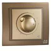 Выключатель реостат 800W Mono Дымчатый, Серебро, Титан, Темный дымчатый