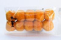 Помпоны декоративные из акриловой пряжи, 2 см, оранжевые, фото 1