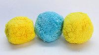 Помпоны декоративные из акриловой пряжи, 4 см, желтые, фото 1