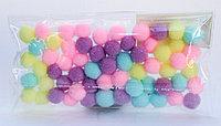 Помпоны декоративные из синтетики, 1 см, 60 шт., разноцветные, фото 1