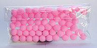 Помпоны декоративные из синтетики, 1 см, 60 шт., розовые, фото 1