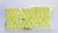 Помпоны декоративные из синтетики, 1 см, 60 шт., желтые