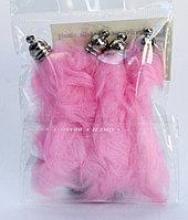 Хвостики для декора, розовые, 10 см, фото 1