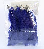 Хвостики для декора, синие, 10 см