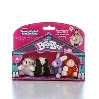 """Beanzees мини плюш в наборе """"Песик, Скунс, Кролик, Котик"""""""