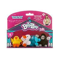 "Beanzees мини плюш в наборе ""Цыпленок, Утенок, Кролик, Горилла"""