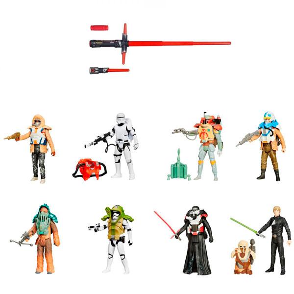 Набор Hasbro Звездные войны (Star Wars) световой меч делюкс B2948 + фигурка B3886