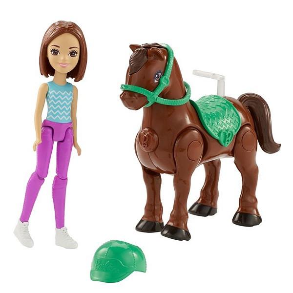 Игрушка Barbie В движении Пони и кукла в асс.