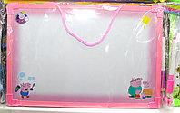 Доска маркерная, розовая, 30*20 см