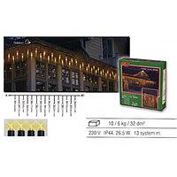 Гирлянда дождь 4х0,4м теплобелая Сосульки кабель черный дополнительная 25х2ламп EXPO outdoor 484-36