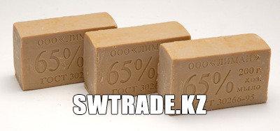 Хозяйственное мыло. коричневое 65% 200гр., фото 2