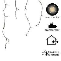 Гирлянда дождь 5х0,5м холоднобелая мигающая кабель черный 4м 8функций 119диодов LED outdoor KA494812