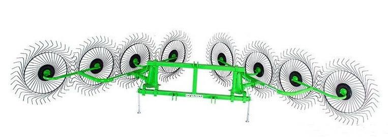 Грабли - ворошилки 8-колёсные