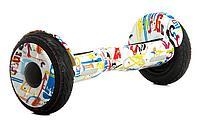 Гироскутеры Smart Balance Wheel 10,5 Белый Графити PRO Off road