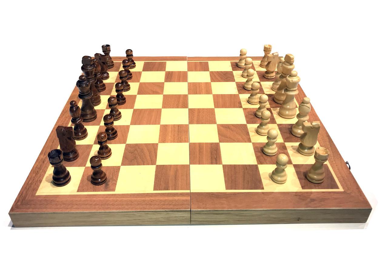 Шахматы 3в 1 (390мм х 390 мм)