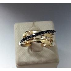 Кольцо / жёлтое золото - 17 размер