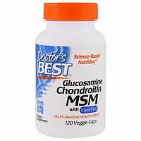 БАД Глюкозамин + хондротин + MSM с OptiMSM (120 капсул)