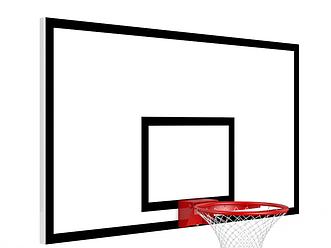 Щит баскетбольный из влагостойкой фанеры на металлическом раме (1800мм х 1050мм без кольца)