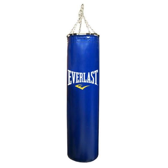 Боксерская груша Everlast кожа 120см синий