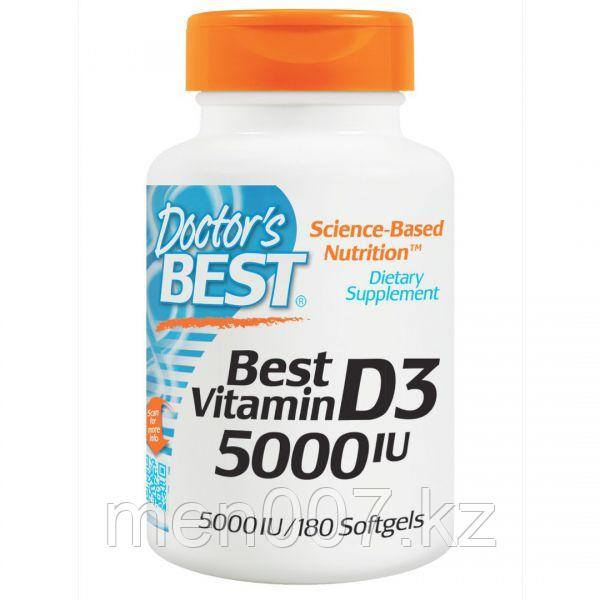 БАД Витамин D3, 5000 IU (180 капсул) Doctors Best