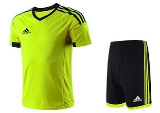 Футбольная форма  Adidas взрослая салатовый