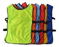 Манишка футбольная детская с резинкой  синий, красный, желтый, салатовый