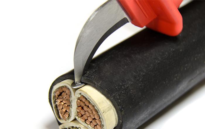 Нож с пяткой для разделки изоляции ПВХ с кабелей и проводов