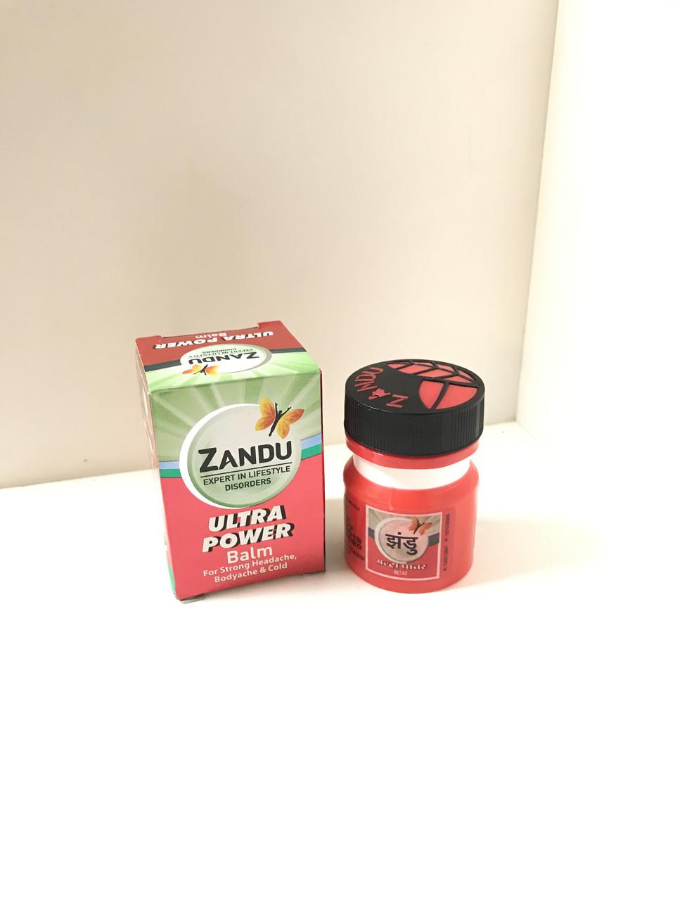 """Болеутоляющий бальзам """"Ультра сила"""",Zandu,  для снятия болей в мышцах и суставах"""