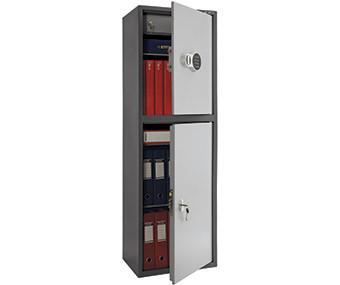 Шкаф бухгалтерский металлический SL-150/2Т EL (1490х460х340 мм)