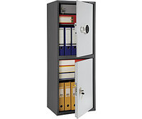 Шкаф бухгалтерский металлический SL-125/2Т EL (1252х460х340 мм)