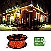 Гирлянда роуп лайт (дюралайт) 45м красная кабель черный 1,8м стартовая Ropelight 564-02