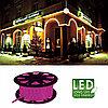Гирлянда роуп лайт (дюралайт) 45м розовая кабель черный 1,8м стартовая Ropelight 564-06