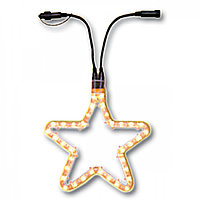 Гирлянда роуп лайт (дюралайт) d0,55м теплобелая Звезда Ropelight d13мм дополните 72лампы EXPO outdoor  484-41