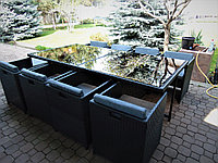 Комплект мебели из искусственного ротанга 8 кресел 1 стол