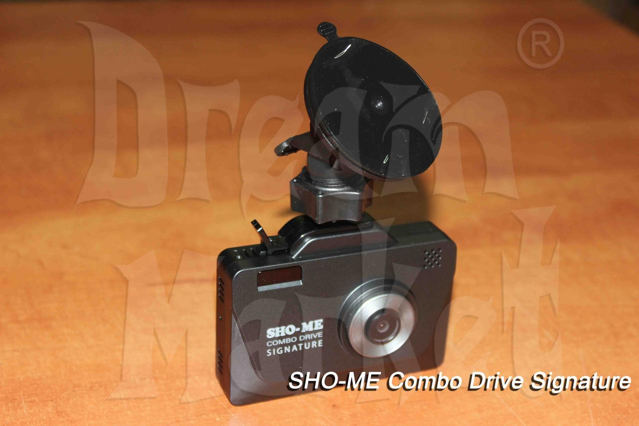 Sho-Me Combo Drive Signature, видеорегистратор, радар-детектор, GPS, база камер