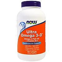 Now Foods Ultra Omega 3-D (180 желатиновых капсул)