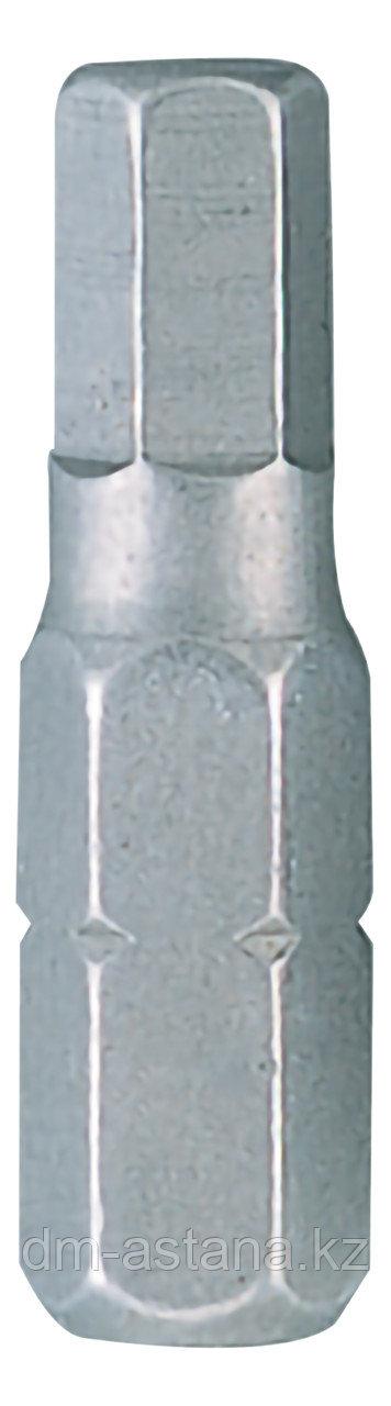 """Вставка (бита) торцевая 1/4"""", HEX, 10 мм, L = 25 мм KING TONY 102510H"""