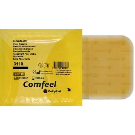 Повязка гидроколлоидная д/язв  Coloplast Comfeel Plus Ulser Dressing р-р20*20 031200